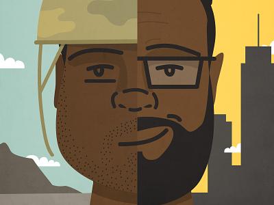 Transition Podcast Art adobe entrepreneurship military designer podcast illustration
