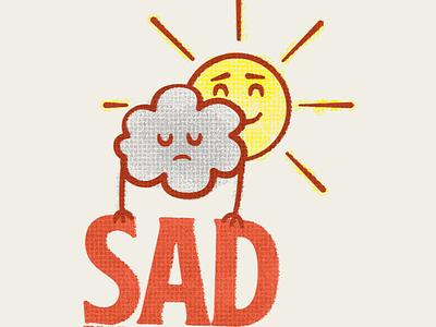SAD autumn fall season sun cloud illustration sad