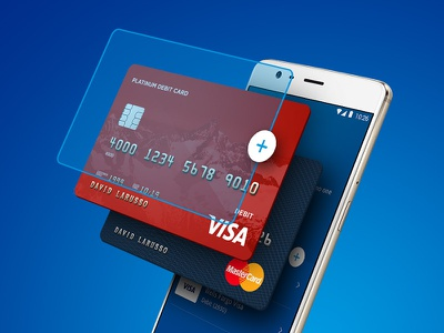 Exploded Wallet wallet mastercard visa credit card paypal android phone exploded 3d