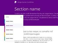 Designsystem menu 800