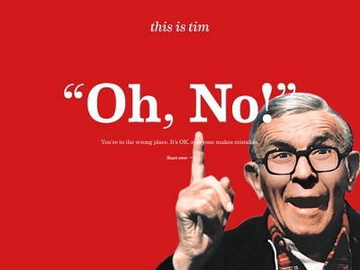 404 Page george burns red error 404 god
