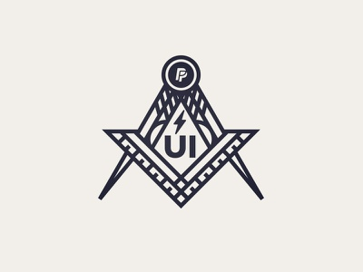 UI Society Logo freemason tools shirt society team paypal masons illustration logo ui