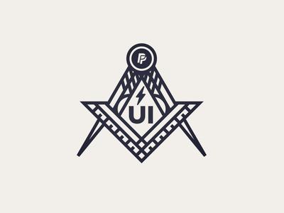 UI Society Logo freemason tools shirt society team paypal masons illustration logo ui