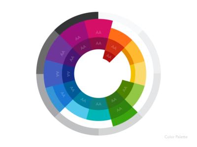 Color Wheel greyscale rainbow palette color wheel accessibility a11y