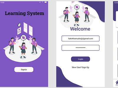 e learning website design web ui ux app design app