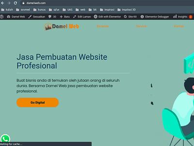 webdamel website design ui branding design website