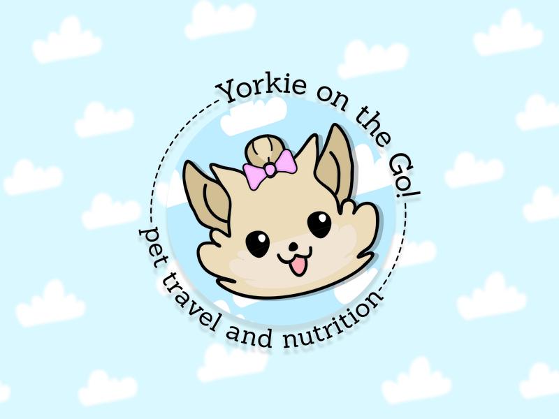 Yorkie On The Go Logo design vector branding flat logodesign petshop illustrator instagram brand animated toon travel terrier logo yorkshire pet