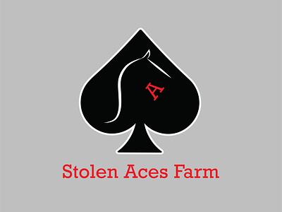 Stolen Aces Farm Logo vector typography logo icon design branding