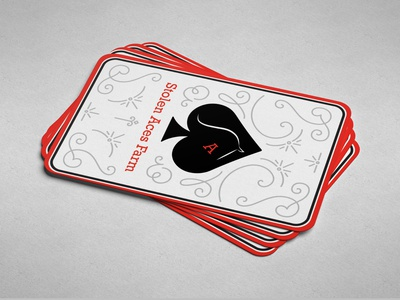Stolen Aces Farm Business Cards business cards vector typography logo illustration design branding