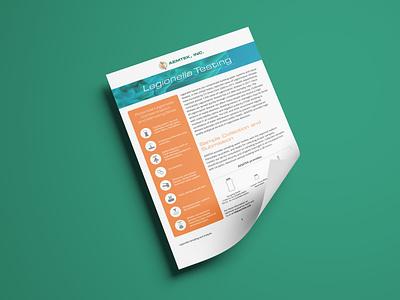 AEMTEK Legionella Flyer design brochure flyer branding