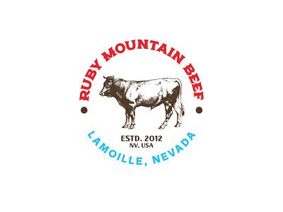 Ruby Mountain Beef logo #2 farm icon illustration logo vector typography design branding