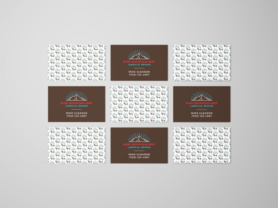 Ruby Mountain Beef Business Cards pattern business cards illustration logo vector typography design branding