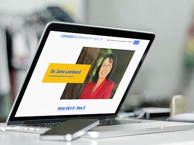Lombard 4 Community Health campaign healthcare campaign advertising logo design web