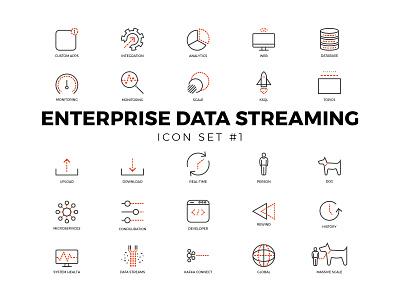 Enterprise Data Icons Set #1 design illustration icon vector