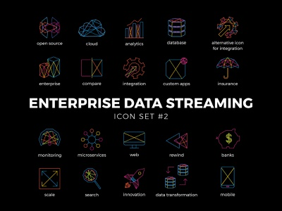 Enterprise Data Icons Set #2 icon illustration vector design
