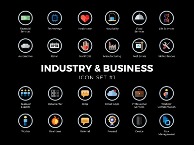 Industry & Business Icon Set #1 icon vector illustration design