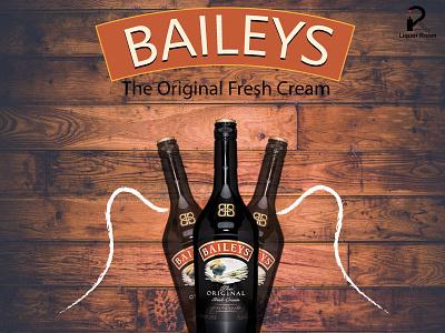 Baileys branding typography design