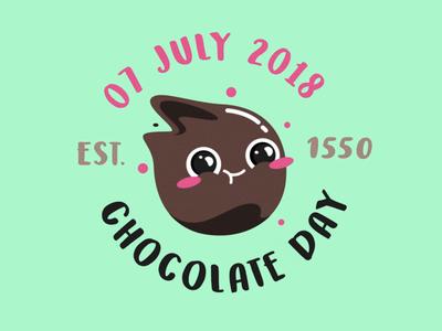 🍫 unykvis design sweet food emoji vector chocolate funny illustration cute