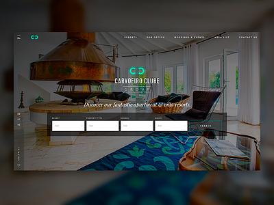 CCG | Resort Booking Website portugal development web design design agency design website booking resort hero