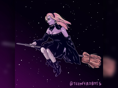 Warm up witch color study witch digital art digital procreate illustration