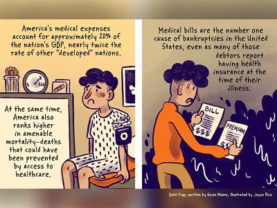 Debt Trap: The Cradle to Grave Domination of American Life digital cartoon nonfiction comics comics journalism comic procreate illustration