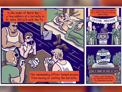 Pandemic of the century digital art cartoon comics digital spanish flu pandemic procreate the nib comics journalism comicsart comic