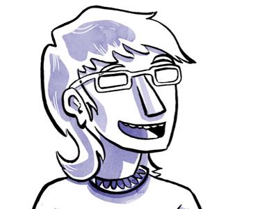 Headshot digital illustration