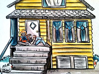 Realtor Gift illustration watercolor