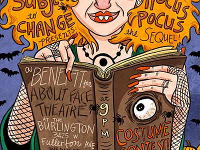 Hocuspocus Dribbble illustration poster hocus pocus