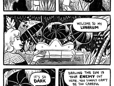 Clubhouses I wish I had lunarium vampire procreate black and white accidental greenhouse comic