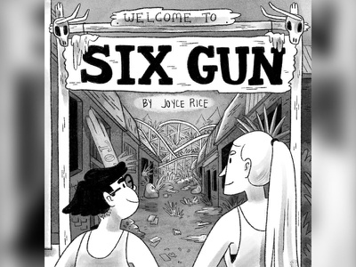 Six Gun is in print! procreate book cover cover illustration young adult comic inktober digital