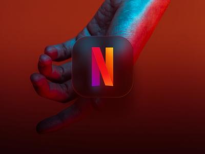 Netflix icon big sur color iphone ios app