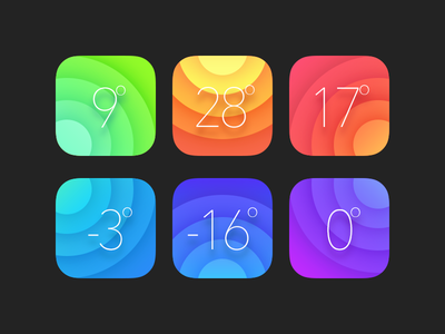 ℃olor weather icon color