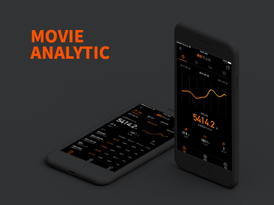 Movie Analytic app dashboard analytic color cinema ticket movie