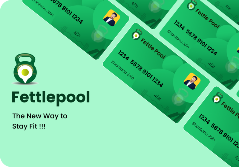 Fettlepool Card Design atm card green fitness gym