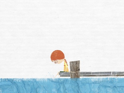 Just sitting on the dock of the bay childrens illustration kidlit story character design book illustration kidlitart picture book childrens book illustration