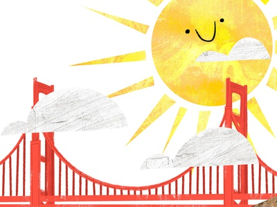 Sunny Bay Day childrens illustration textures cute childrens book illustration story san francisco kidlitart book illustration picture book childrens book illustration