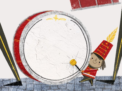 🥁  The Little Drummer in the Big Marching Band textures photoshop illustrator childrens book illustration childrens illustration book illustration drummer marching band picture book childrens book illustration