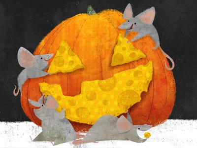 Snack-o-Lantern 🐭 🎃 cute illustrator childrens illustration character design picturebook holiday animal book illustration picture book childrens book halloween illustration