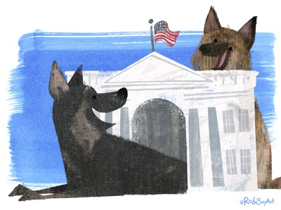 The first dogs to love the mailman 🗳 🐶🐕 📫 🇺🇸 dog kidlit childrens book illustration book illustration picture book childrens book illustrator textures president election 2020 illustration dog illustration dogs