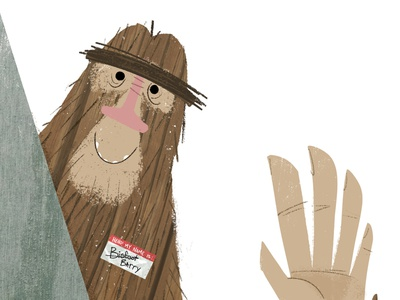 He's out there.. humor bigfoot childrens illustration story kidlit character design book illustration kidlitart picture book childrens book illustration