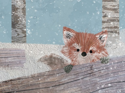 A fox in the woods textures childrens book illustration childrens illustration kidlit story character design fox book illustration picture book childrens book illustration
