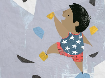 Little Olympians - Sport Climbing painting sketch drawing graphic design design character design book illustration kidlitart picture book childrens book olympics climbing illustration