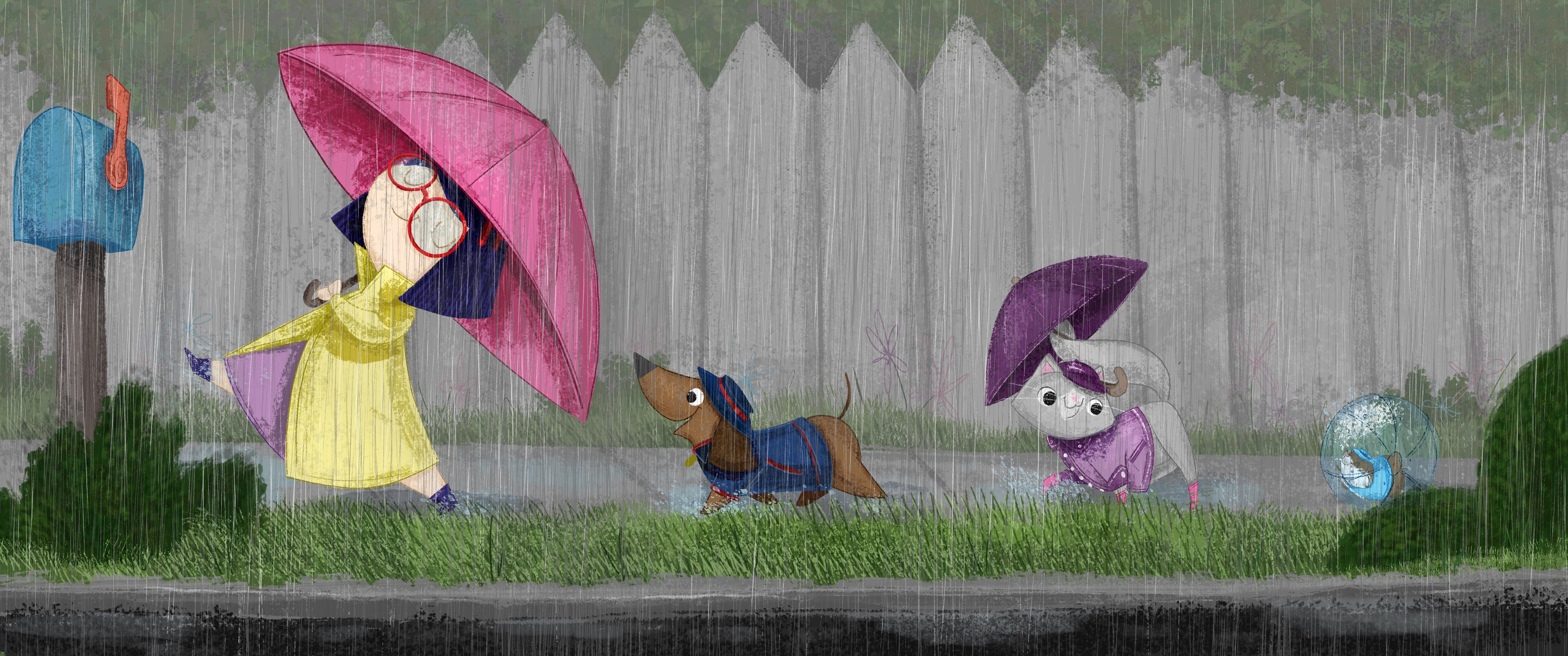 Rainy Day Brigade kidlit painting illustration book illustration kidlitart