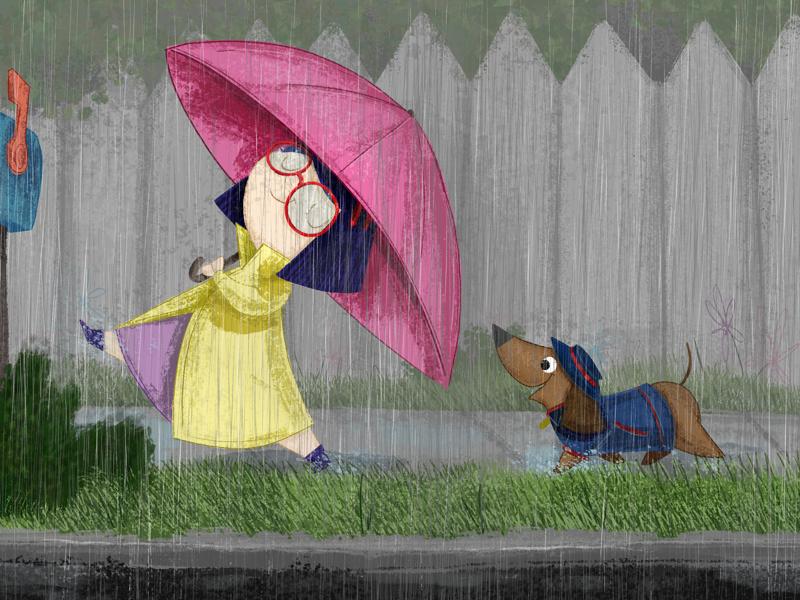 Rainy Day Brigade kidlit painting illustration book illustration kidlitart