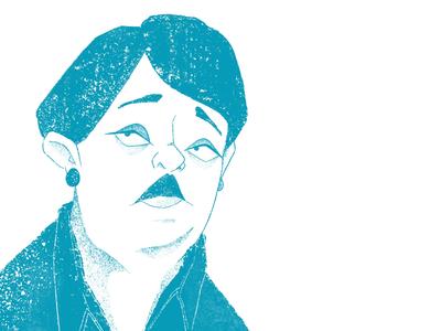 1-color portrait - teal