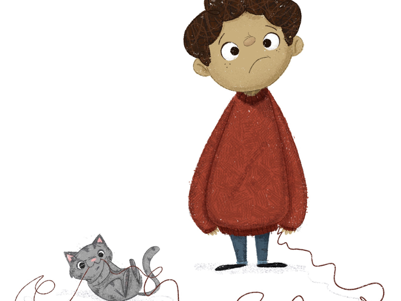 Sweater Weather 🐱 book illustration child cat story childrens book picture book character design kidlit kidlitart illustration