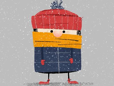 Bundled Up Boy boy character picture book book illustration childrens book illustrator illustration winter