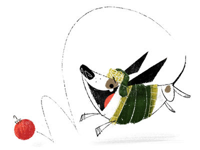 Ornament Wrangler vis dev story character design christmas picture book childrens book dog holiday illustrator illustration