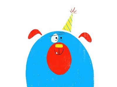 Party Pup greeting card party dog kidlitartist kidlitart character design book illustration childrens book picture book illustration